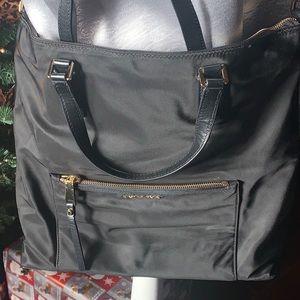 Michael Kors - Black Nylon Crossbody Tote Handbag.